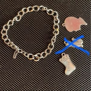 James Avery bracelet and charms